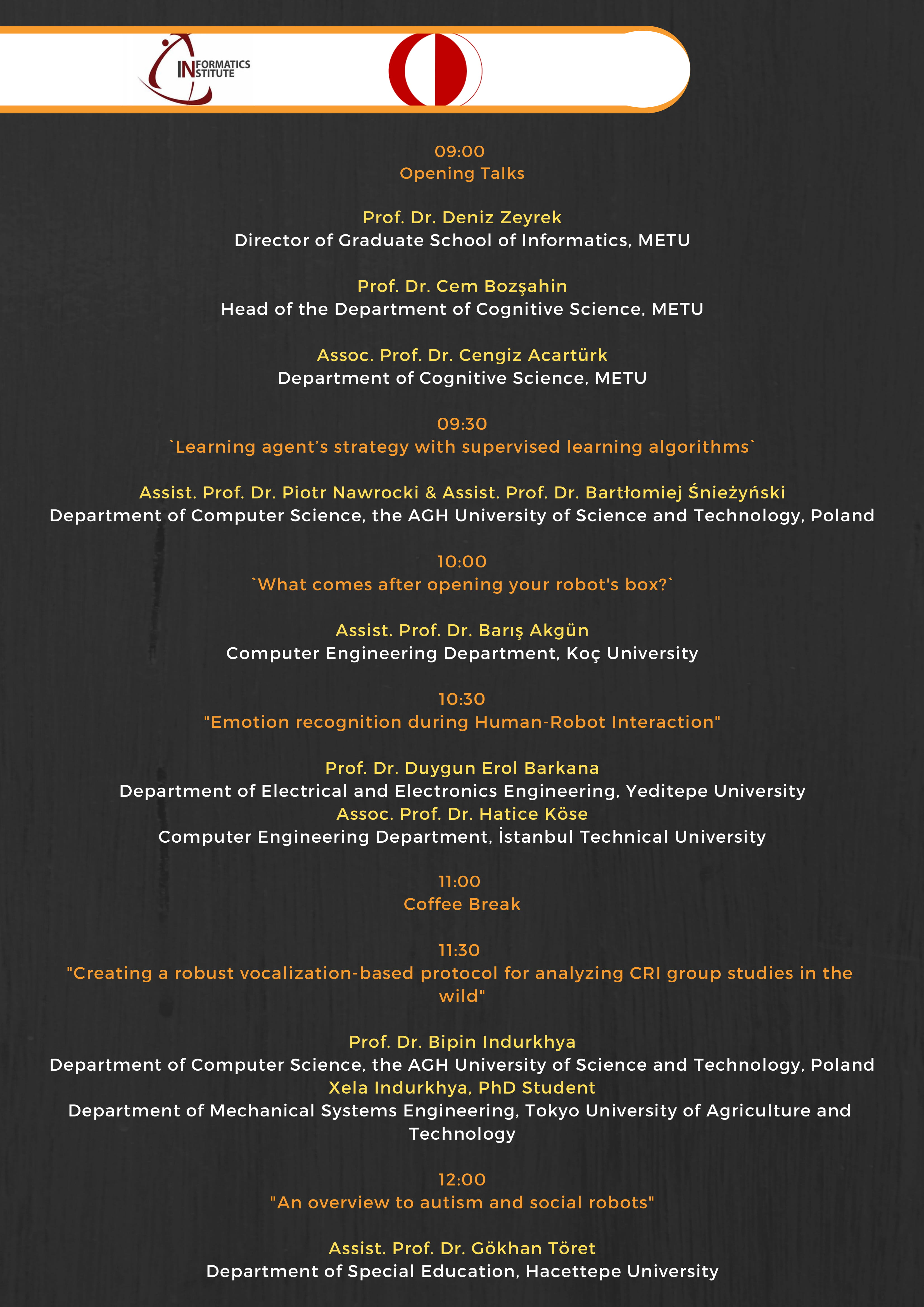 Symposium on Human-Robot Interaction, December 13 | Graduate School